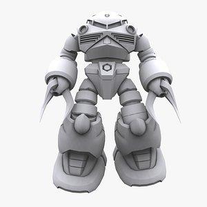 3D gundam mobile suit model