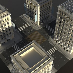 city intersection model