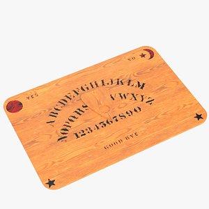 ouija board planchette 3D model