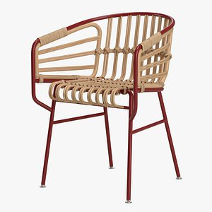 3D model Casamania Raphia Rattan Chair