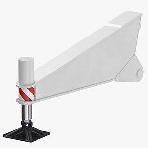 3D crane outrigger 04 white