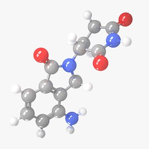 Lenalidomide - C13H13N3O3 Molecular Structure model