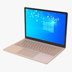 3D model Microsoft Surface Laptop 4 13 Inch Sandstone
