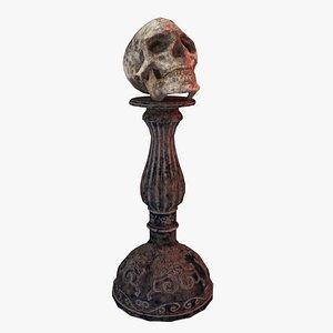 Human Skull Low Poly 3D