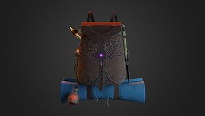 3D Celtic stylized backpack
