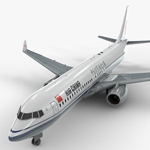 3D boeing 737-8 air china model