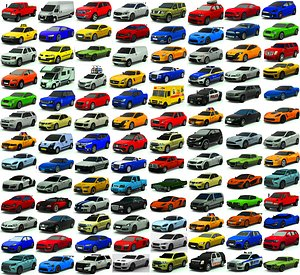 City cars  pack low-poly 3D model