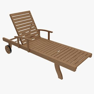 3D chair sun wood