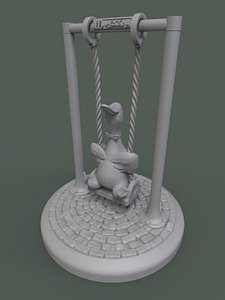 duck swing cute 3D