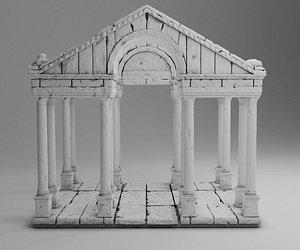3D greek ancient arch model