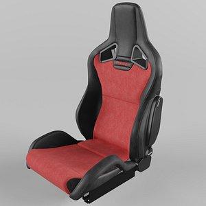 RECARO Sportster CS Vinyl Black, Suede Red 3D model