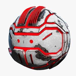 sphere drone glowing 3D model