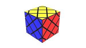3D model Skewb Puzzle 3x3x3