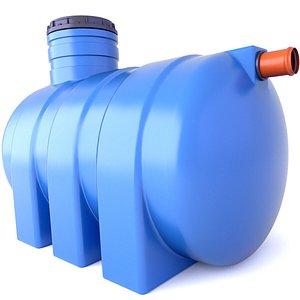 3D model Underground Rainwater Septic Tank 24