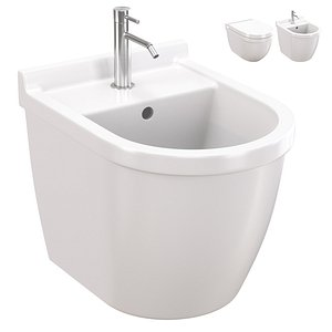 Duravit Starck 3 wall-mounted bidet and toilet wall-mounted model
