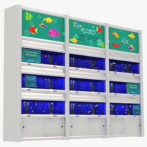 3D Pet Shop - Aquarium with Fishes