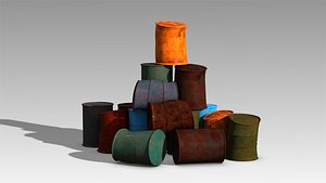 3D low-poly barrel