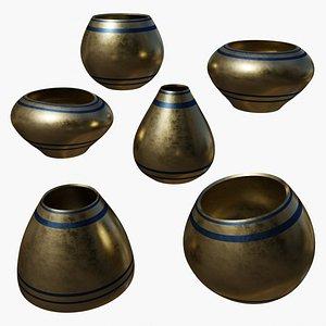 Golden Vases 3D