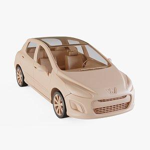 2012 Peugeot 308 3D model