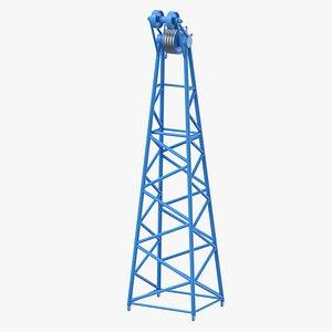 3D crane f intermediate head model
