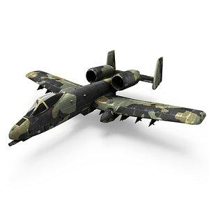 Attack aircraft A-10 Thunderbolt II 3D model