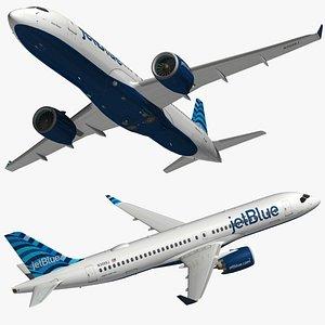 Airbus A220 300 JetBlue 3D model