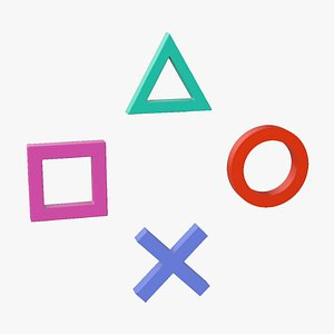symbols playstation square triangle 3D