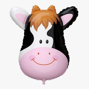 3D Decoration foil balloon 09 Cow