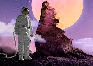 3D Astronaut spacesuit protective suit worker isolation suit biochemical crisis rescue worker jumpsuit model