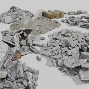 construction garbage photoscanned model