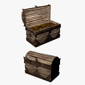 Old Chest Of Gold 3D model