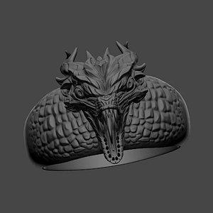 3D model dragon ring