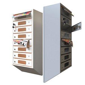 3D postbox mailbox model