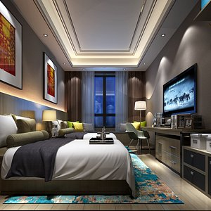3D bedroom interiors