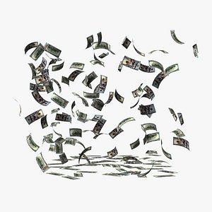 3D Falling Dollar Bills