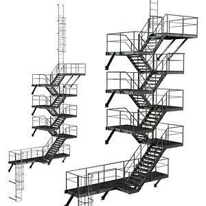 escape stairs 3D model