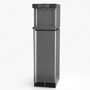 3D Water Dispenser with Fridge model
