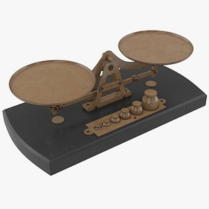 antique scale 3D model