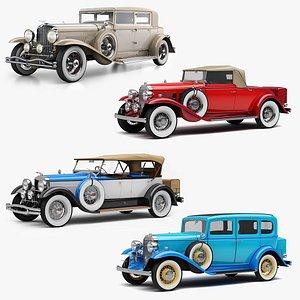 retro cars 3D model