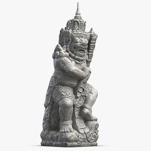 bali demon statue 3D