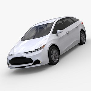 3D Generic Compact Hybrid Concept Car 3D model