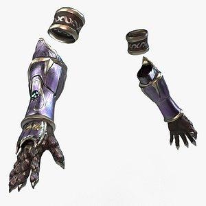 3D Elf Female Hand Armor Set