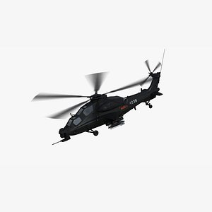 WZ10 Attack Helicopter 3D