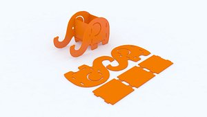 Elephant Shape Mobile Holder and Container model