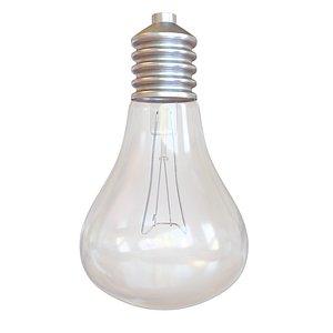 3D model light bulb lightbulb