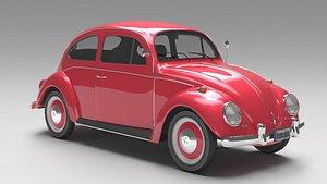 3D volkswagen beetle 1974