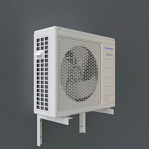 White Panasonic Air Conditioning Outdoor Unit 3D