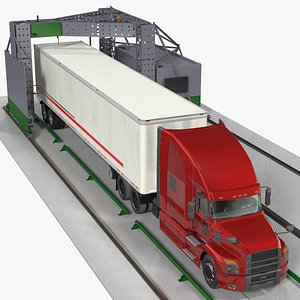 3D Gantry Inspection System with Semi Trailer Truck
