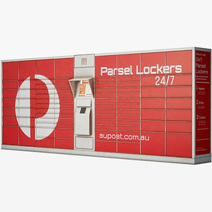 post parcel locker 3D model