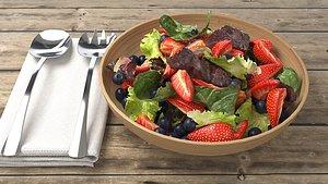 3D model salad vegetable food